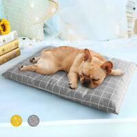 Indestructible Dog Bed Warm Cotton Cushion Sleep Mat for Kennel Crate Grey S-XL