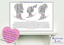 Personalised Wedding Day Poem Keepsake Parents Daughter Mum Dad Gift Bride Print