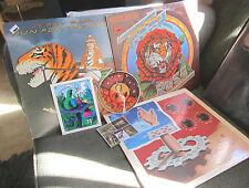 3 lp lot jerry garcia robert hunter (grateful dead) +7 stickers alice hippy oop!