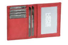 Ausweis- und Kreditkartenhülle LEAS in Echt-Leder, cherry/rot