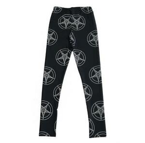 girl leggings Pants geometry pentagram ladies Printed Women Legging pant C0191