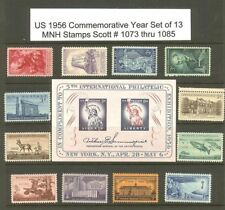 US 1956 Commemoratives Year Set with 12 Stamps MNH