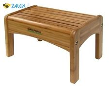 Wooden Foot Stool Child Bed Step Vintage Wood Kitchen Small Non Slip Feet New