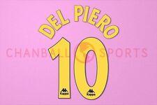 Del Piero #10 1996-1997 Juventus Awaykit Nameset Printing
