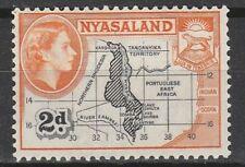 1953 NYASALAND 2d  MAPDIFINITIVE  SG 176  L/M/MINT