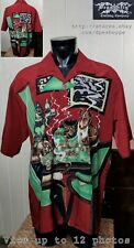 Dragonfly NWT Dogs Playing Poker Button Front Short Sleeve Men's Shirt Sz 2XL
