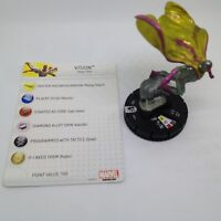 Heroclix Age of Ultron Movie set Vision #011 Gravity Feed figure w/card!