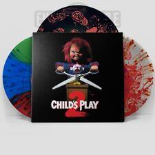 Child's Play 2 Vinyl Soundtrack Chucky Shirt Stripe Overall Splatter SEALED 2XLP
