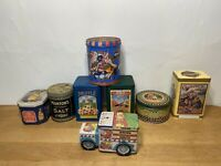 Vintage Advertising Merchandise Candy Cookie Tins lot of (7) 1 Rare Cadbury Tin