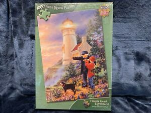 """Master Pieces """"Heceta Head Lighthouse"""" 1000 Piece Jigsaw Puzzle Brand NEW Sealed"""