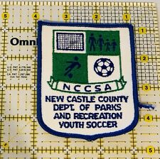 New Castle County Parks And Recreation Youth Soccer Iron On Patch NCCSA Unused