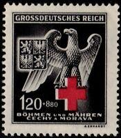 ✔️  GERMANY BOHEMIA MORAVIA 1943 WWII NAZI RED CROSS SC. B21 ** MNH [GBM132]