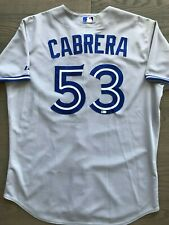 Melky Cabrera Game Used Worn Blue Jays Jersey 2014 MLB Authenticated
