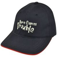 Wings Beachwear Here Comes Trouble Youth Relaxed Adjustable  Blue Hat Cap