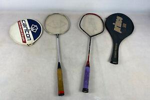Vintage prince 500 And Carlton badminton rackets
