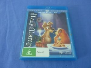 Lady And The Tramp Blu-ray + DVD Diamond Edition Free Postage