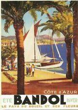 FRENCH VINTAGE POSTER 50x70cm BANDOL CITY COTE D'AZUR France