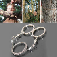 Steel Wire Saw Outdoor Camping Hiking Hunting Fishing Commando Survival Tool