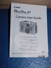 Canon PowerShot G1 Camera User Guide