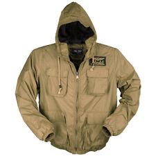 Mil-Tec Leger Air Force Heren Hooded Vest Tactische Piloot Zomer Jas Coyote Tan