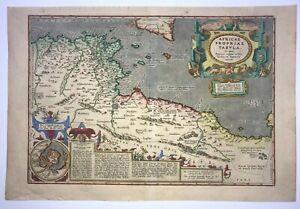 NORTH AFRICA 1603 ABRAHAM ORTELIUS UNUSUAL LARGE ANTIQUE ENGRAVED MAP