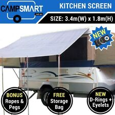 3.4m Kitchen Awning Privacy Screen Sunscreen Jayco Swan, Flamingo Camper Trailer
