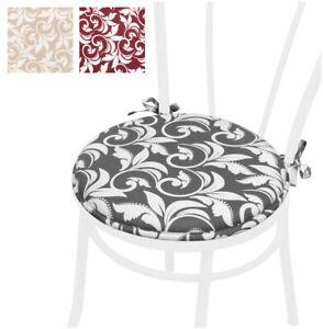 Cuscino sedia morbido rotondo 40 cm coprisedia con lacci cucina barocco lavabile