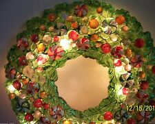 """Dept. 56 Holiday Christmas Wreath Lights Candy Peppermint 11"""" Decoration  New"""
