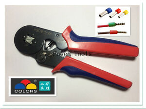 Bootlace Ferrule Crimper Terminal Crimping Tool 0.25-6mm² Wire end Cord end lug