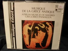 Musique DE LA GRECE ANTIQUE-Gregorio paniagua/Atrium Musicae de Madrid