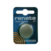 Renata CR2450 DL2450 BR 2450 Coin Cell Watch Key Fob Remote Replacement Battery