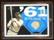 TOPPS HERITAGE BABE RUTH GAME JERSEY PANTS #D 3/3 PINSTRIPES 2 COLOR HOF YANKEES