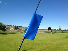 #1b- 6.5x8.5=3x6 usable size BLUE FISHING TACKLE ACCESSORY COVER & POLE WRAP