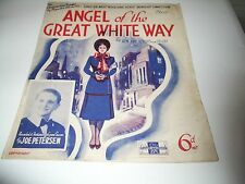 """Sheet Music with words """"Angel of the Great White Way"""""""