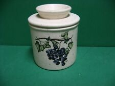 GRAPE VINE CERAMIC  BUTTER CROCK   MADE  IN  USA  FREE SHIPPING