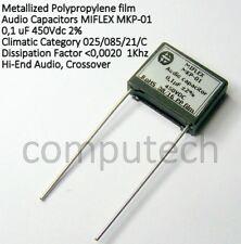 Condensatore per Audio in Polipropilene 100nF 0,1uF 450V 2% MIFLEX MKP-01