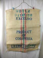 PRODUCT OF COLUMBIA BURLAP COFFEE BEAN BAG