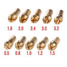 New 10x Copper Drill Chucks Collet Bits Shank Dremel Rotary Tool 4.8mm 0.5-3.2mm