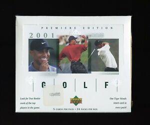 2001 UPPER DECK GOLF PREMIERE EDITION 24 PACK SEALED BOX
