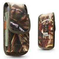 Camo Heavy Duty Nylon Holster Pouch Belt Clip fit with Otterbox Defender Case On