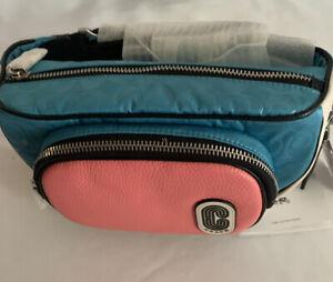 NWT Coach COURT BELT BAG IN COLORBLOCK -2907-SIGNATURE NYLON
