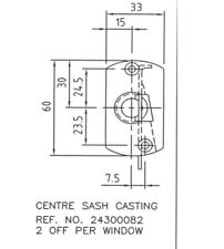 Yale Universal Centre Bracket to suit Top Turn Window Hinges
