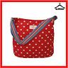 Cath Kidston Large Fabric Cotton Red Polka Dot Cross Body Messenger Tote Bag J6