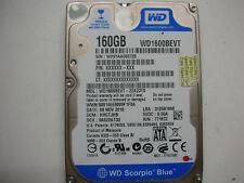 """WD Scorpio Blue 160gb WD1600BEVT-22A23T0 2061-771672-F04 AC 2,5"""" SATA"""