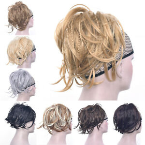 Tousled Braids Ponytail Scrunchies Hair Extensions Messy WrapHair Elastic Pieces