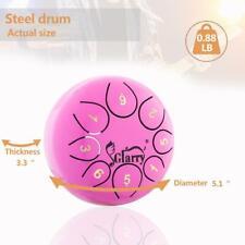 5.5'' Steel Tongue Drum Handpan C Major 8 Notes Hand Tankdrum With Bag Purple