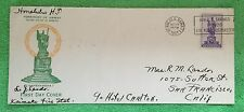 Extremely Rare Kamehameha 1st 1930's Hotel Carlton, Hi. FDC Hawaii & GIFT!