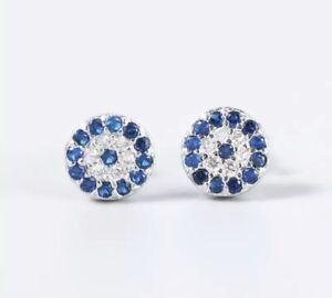 925 Sterling Silver Earrings, Silver Evil Eye Earrings, Turkish Eye, Small Studs