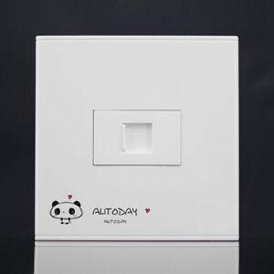Wall Socket Plate One Port Network Ethernet LAN CAT5e Outlet Panel Faceplat RJ45