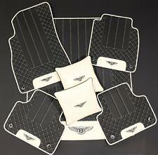RHD Bentley Bentayga Eco leather Floor Mats, Trunk, 2 Pillows Black/linen